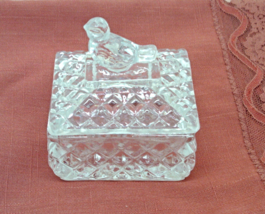 Vintage  Hofauer Crystal Byrds Trinket Box // Crystal Ring Box With Bird... - $16.99