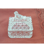 Vintage  Hofauer Crystal Byrds Trinket Box // Crystal Ring Box With Bird... - $16.99