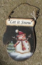 1395 - Let It Snow Snowman-Metal Christmas Ornament  - $2.25