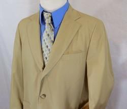 Vintage 70s ORVIS Mens 40R/40 R Khaki Blazer/Sport Coat/Suit Jacket MADE... - $15.76