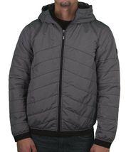 Bench Ahlo Black Charcoal Grey Quilted Lightweight Winter Jacket Hood BMKA1469 image 3