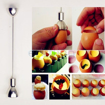 Stainless Egg Topper Cutters Shell Opener Knocker Kitchen Utensil - €9,95 EUR+