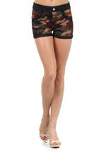 Lady's Sahara with Camouflauge Print and Rhintestone  Jegging Shorts - $15.99