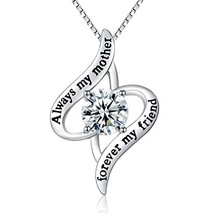 """L.YA """"Always My Mother Forever My Friend Love Heart Necklace, Fashion Je... - $16.52"""