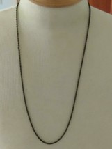 """28""""VINTAGE RUSTIC BRONZE DAINTY METAL TRIPLE LINKED CHAIN NECKLACE,1/16""""... - $5.93"""