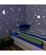 114 Fluorescent Wall Stickers Glow In The Dark Decals Kid Bedroom Decor Set - $35.99