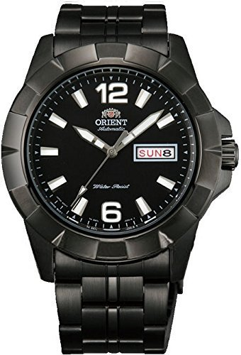 Primary image for Orient #FEM7L001B Men's Anchor Black IP Stainless Steel Black Dial Day/Date A...
