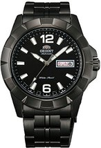 Orient #FEM7L001B Men's Anchor Black IP Stainless Steel Black Dial Day/Date A... - $191.09