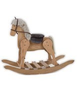 LARGE WOODEN ROCKING HORSE USA Handmade Toddler Toy Amish Furniture MEDI... - $382.17