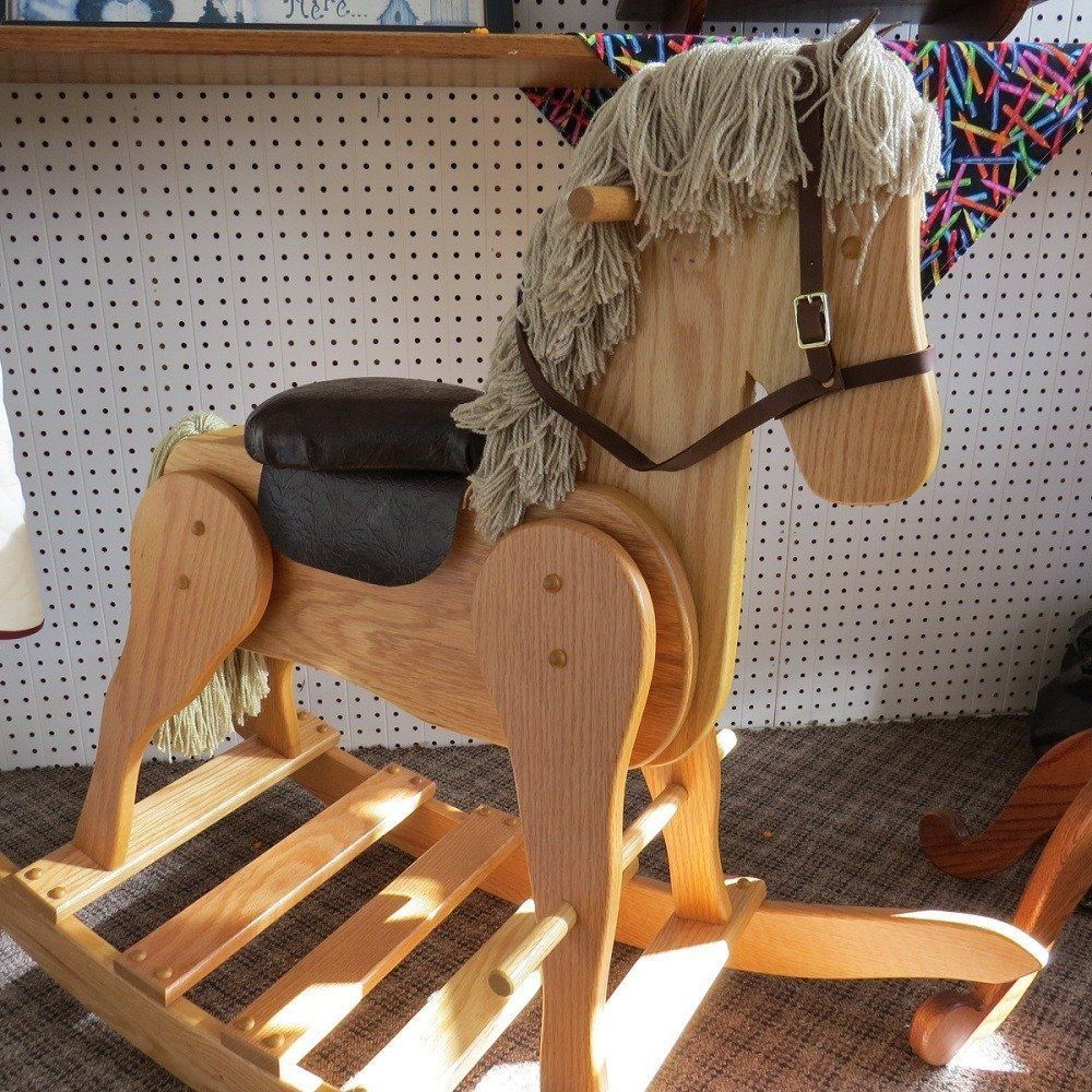 LARGE WOODEN ROCKING HORSE Handmade Toddler Toy Amish