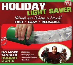 EMSON* Reuseable Kit HOLIDAY LIGHT SAVER Untangle In Seconds CHRISTMAS F... - $3.99