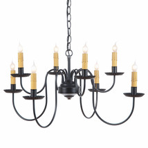 PRIMITIVE CHANDELIER Wrought Iron 2 TIER CANDELABRA Rustic Country Ceili... - $259.13