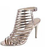 Christian Siriano KRISSY Strappy Metallic Rose Gold Caged Pumps Sandals ... - $23.97
