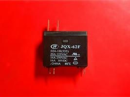 Jqx 62 F, 024 1 H(555), 24 Vdc Relay, Hong Fa Brand New! - $6.44