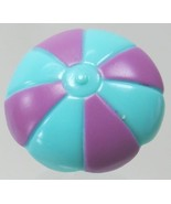 1995 Vintage Polly Pocket Doll Pop-up Clubhouse Blue/Turquoise Umbrella - $6.00