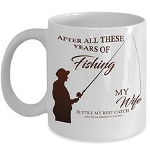 Fisherman Coffee Mug - Ceramic Fishing Cup - Baiter Wife Best Catch Trav... - $14.95+