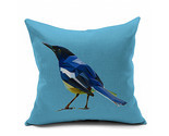 Cotton Flax Pillow Cushion Cover Flower Bird   HN007