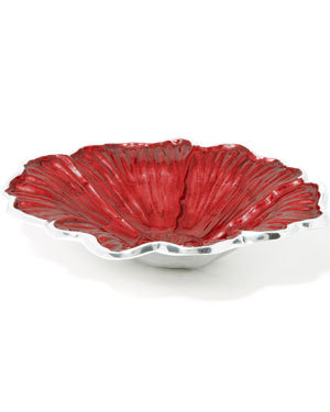 Julia Knight Hibiscus 12 inch Bowl Pomagranate