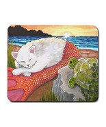 Mousepad from original art painting Cat Mermaid... - $12.99