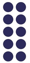 "1-1/2"" Sapphire Blue Round Color Coded Inventory Label Dots Stickers USA MADE - $2.49+"