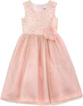 Rare Editions Little Girls 2T-6X Sequin Glitter Mesh Overlay Social Party Dress