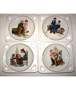 Vintage 1984 Norman Rockwell Museum set of 4 Classic Plates - $29.00