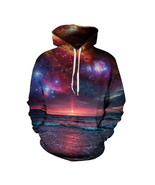 Space Galaxy 3d Sweatshirts Men/Women Hoodies With Hat Print Stars Nebul... - $22.00