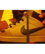 NIKE AIR FORCE ONE WORK SHOES GRAY SUEDE BLUE Size 12 - $29.92