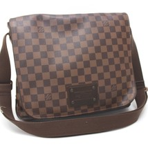 AUTHENTIC LOUIS VUITTON Damier Brooklyn MM Shoulder Bag Ebene N51211 - $1,260.26 CAD