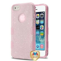 For APPLE iPhone SE/5S/5 Pink Full Glitter TUFF Hybrid Case Cover - $11.07