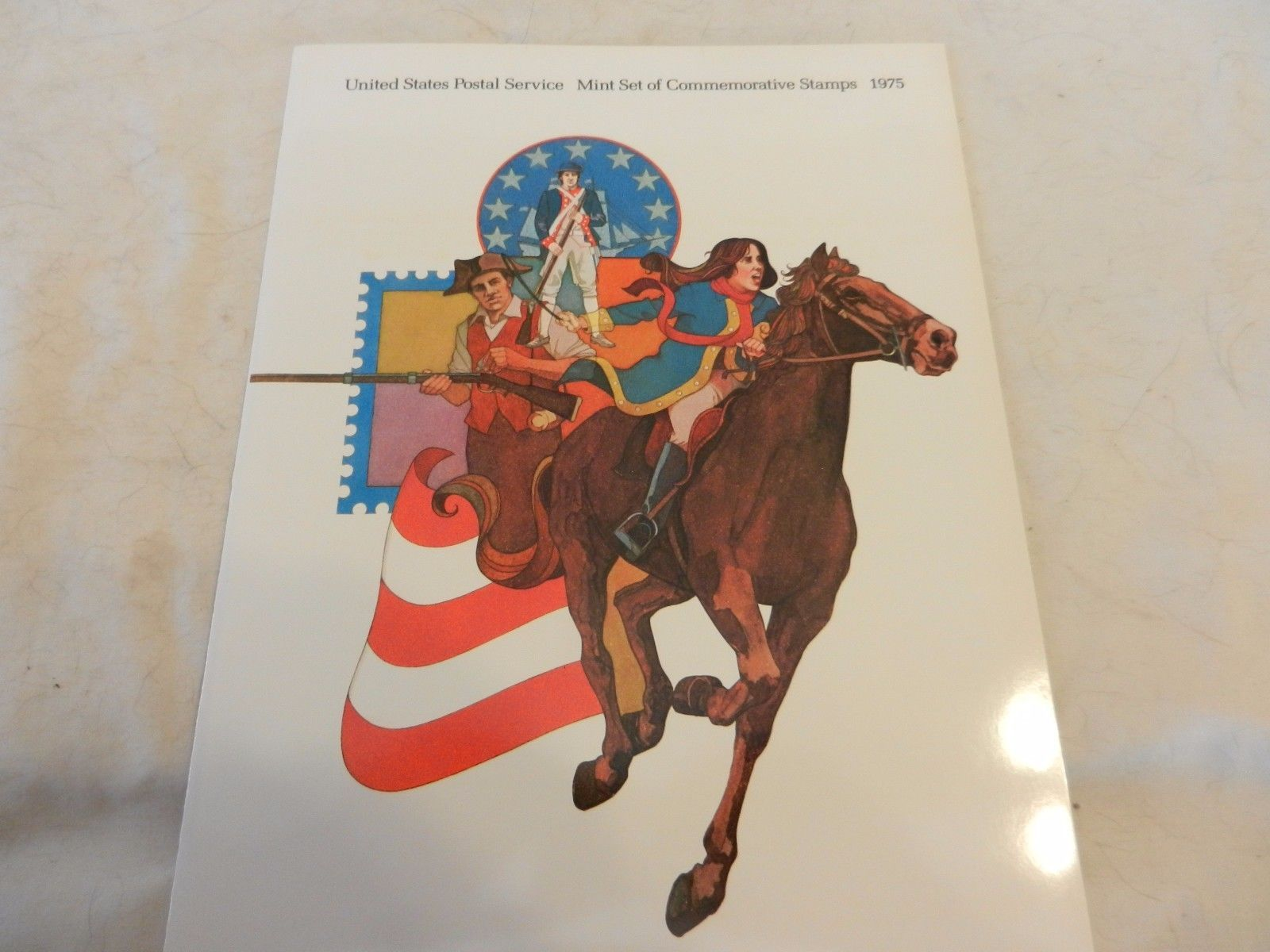 1975 USPS Mint Set of Commemorative Stamps Book Only no stamps