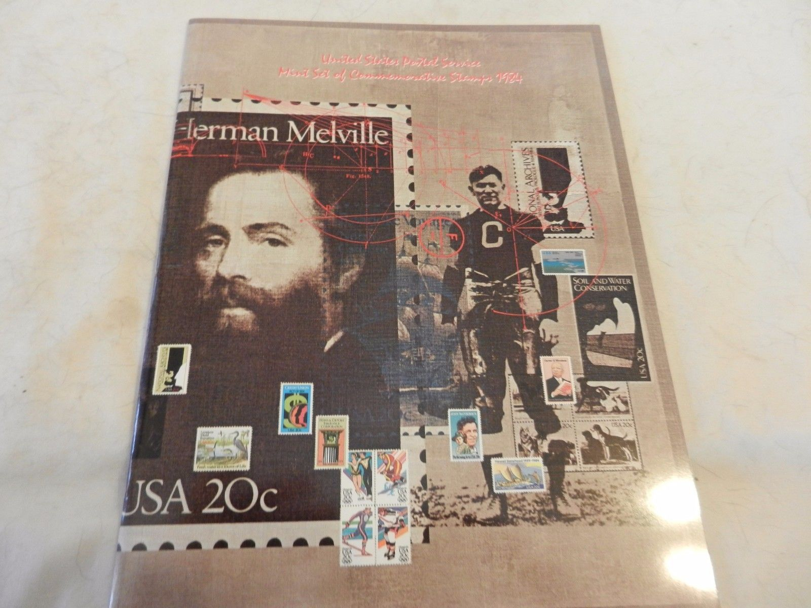 1984 USPS Mint Set of Commemorative Stamps Book Only no stamps
