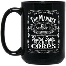 Marine Corps Mug   The Marines Aged To Perfection Marine Mug   15 oz Black Ceram - $13.99