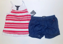 Nautica Infant Toddler 2 Piece Shorts Outfit Size 18M & 24M NWT - $16.79