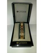 Ladies Elegant Citizen Gold Tone Bracelet Watch. New Vintage ! In Box ! - $169.95