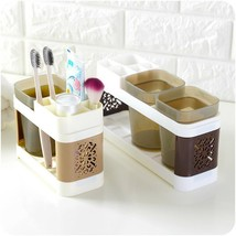 Toothbrush Storage Rack Toothpaste Holder Bathroom Shower Shelf Organize... - $15.99