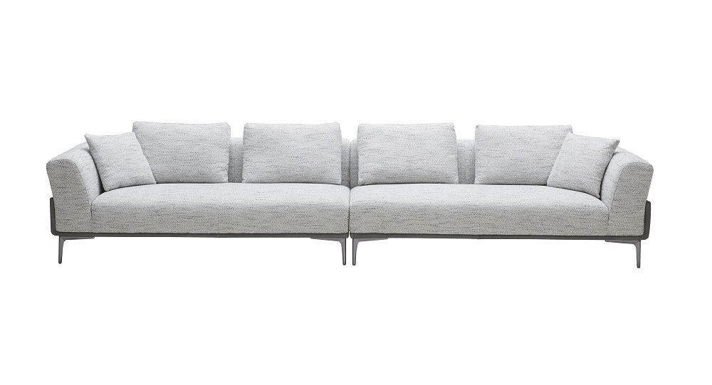 J&M Luna off white textured fabric Sofa Contemporary Modern style
