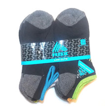 RBX Boys 6 Pack Socks Black with Colors Low Cuts Size 6-8 NWT - $8.44
