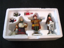 Dept 56 Dickens Village Portobello Road Peddlers Set of 3 Retired Box/Sleeve Min - $12.99