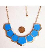 Doll Collar Lacquered Fashion Alloy Pendant Necklace(Blue) - $8.99