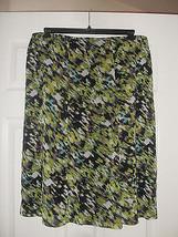 Le Suit Womens New Black/Palm Multi Flare Silhouette Skirt   12 - $18.98