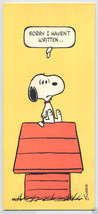 Vtg 1965 Peanuts SNOOPY WOODSTOCK Sorry I Haven't Written GREETING CARD ... - $5.95