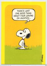 Vintage 1970's SNOOPY Peanuts VACATION Greeting CARD Happy Dance UNUSED - $9.95