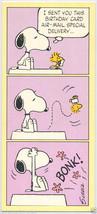 Vintage 1965 Peanuts SNOOPY & WOODSTOCK Belated BIRTHDAY Greeting CARD U... - $5.95