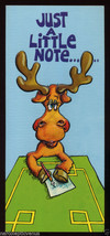 1970's MOOSE I'm HORNY Risque Vintage GREETING CARD Unused FUNNY Humor - $4.95