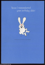 Bunny BELATED Late HAPPY BIRTHDAY Rabbit Vintage GREETING CARD - $5.75