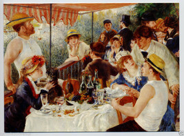 RENOIR Boating Party Luncheon IMPRESSIONIST Painting Blank GREETING CARD... - $6.95