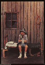 FUNNY Vintage COWBOY Bunkhouse Blues GREETING CARD Unused Gene Zesch Com... - $5.95
