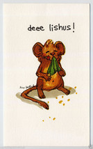1976 Mouse THANK YOU For DINNER Greeting CARD Suzy's Zoo MCM Suzy Spafford - $8.00