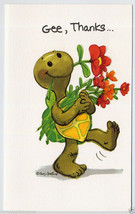 1978 Turtle THANK YOU Greeting CARD Suzy's Zoo MCM Suzy Spafford Mid Cen... - $8.00